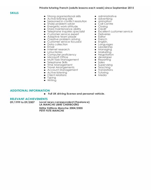 Livecareer: Online CV for Olivier SEVESTRE